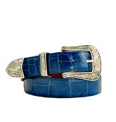 Indigo Blue Classic Alligator